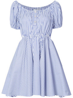 puff sleeve bardot dress Caroline Constas