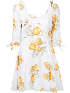 мини-платье с принтом лимонов For Love And Lemons