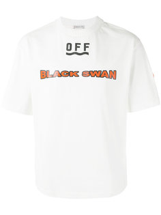 футболка с принтом black swan Moncler X Off-White