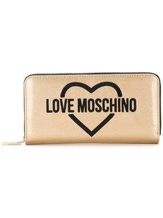 кошелек с вышитым логотипом Love Moschino