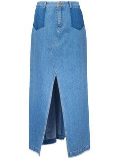 длинная юбка с шлицей спереди Sea