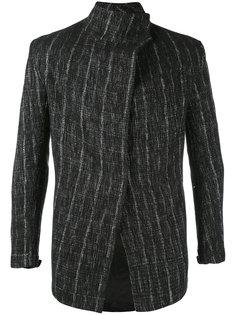 striped asymmetric jacket  A New Cross