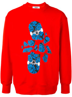 skateboard print sweatshirt MSGM