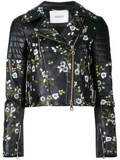 укороченный пиджак с вышивкой Erdem