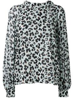 leopard print longsleeved blouse Dorothee Schumacher