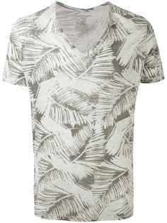 printed v-neck T-shirt  Majestic Filatures