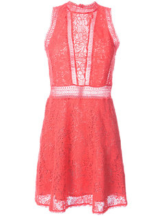 crochet sleeveless mini dress Rebecca Taylor