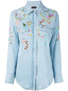 джинсовая рубашка с вышивкой Ermanno Ermanno