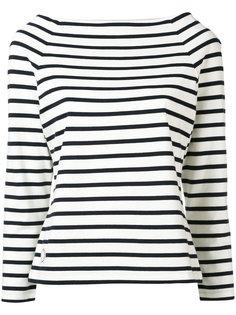 boat neck striped blouse Ines De La Fressange
