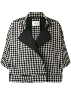three-quarters sleeve checked jacket Dorothee Schumacher