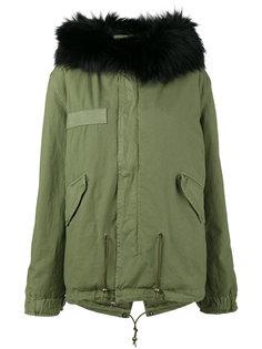 fox fur trimmed parka coat Mr & Mrs Italy