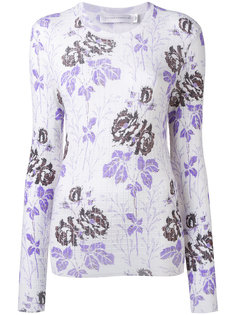 floral ribbed knit Victoria Beckham