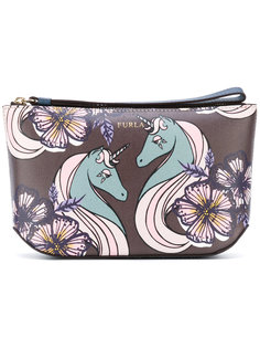 printed make up bag Furla