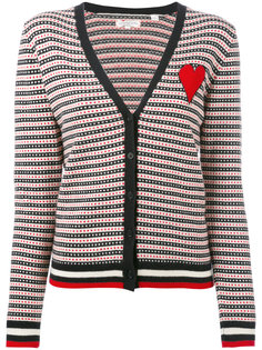 jacquard heart cardigan Chinti And Parker