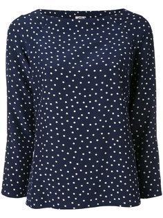 polka-dot blouse Ines De La Fressange
