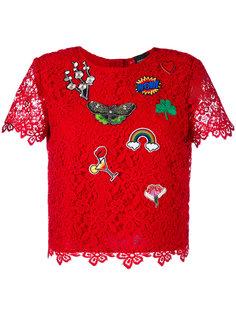 кружевная блузка с нашивками Ermanno Ermanno