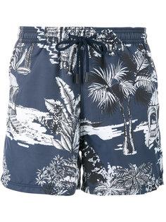 шорты для плавания с Гавайским принтом Etro