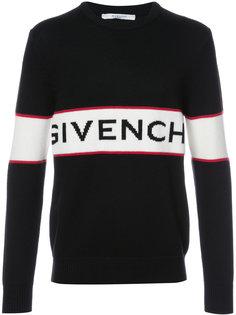 трикотажный джемпер с логотипом Givenchy