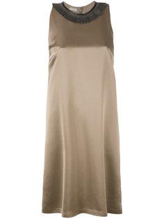 платье с декорированным воротником Brunello Cucinelli