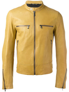 куртка из кожи ягненка на молнии Dolce & Gabbana