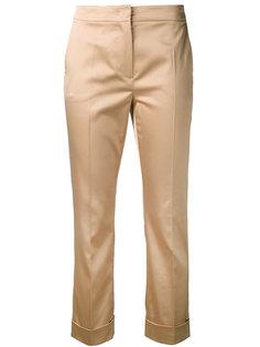 брюки с отворотами снизу Max Mara