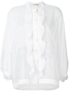 рубашка с плиссированной отделкой Ermanno Scervino