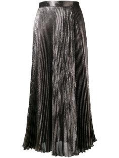 металлизированная плиссированная юбка Christopher Kane