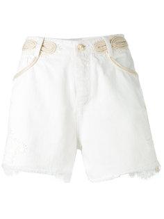 джинсовые шорты с потертой отделкой Ermanno Scervino