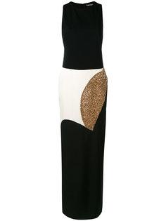 длинное платье с контрастными вставками Tom Ford