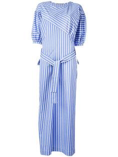 свободное платье в полоску с поясом  Ermanno Scervino