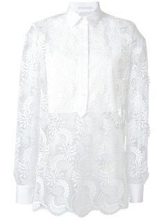 полупрозрачная рубашка с принтом пейсли  Ermanno Scervino
