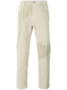 брюки с вставкой из сетки Helmut Lang