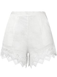 пляжные шорты с кружевной окантовкой Ermanno Scervino