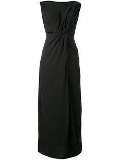 длинное драпированное платье без рукавов  Rick Owens Lilies