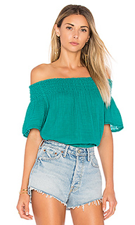 Smocked off the shoulder top - Michael Stars