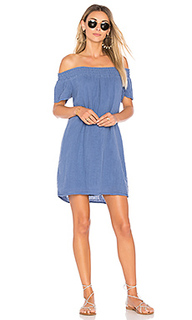 Smocked off the shoulder dress - Michael Stars