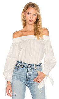 Poplin off shoulder top - BLAQUE LABEL