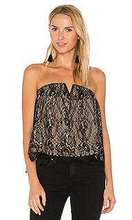 Black strapless lace top - Bobi