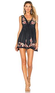 Платье-комбинация с вышивкой aida - Free People