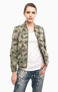 Куртка на молнии камуфляжной расцветки G Star RAW