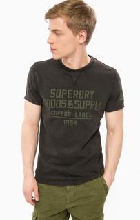 Хлопковая футболка с принтом Superdry
