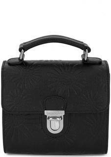 Маленькая черная сумка из натуральной кожи Braccialini