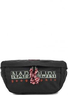 Черная текстильная поясная сумка Napapijri