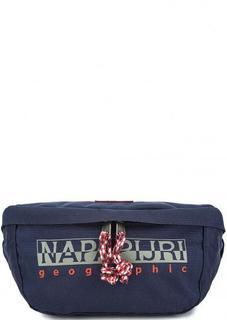 Синяя текстильная поясная сумка Napapijri