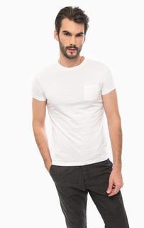Белая хлопковая футболка с круглым вырезом Liu Jo Uomo