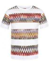 Хлопковая футболка с контарстным принтом Missoni