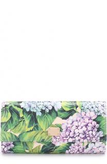 Кожаный кошелек с принтом Dolce & Gabbana
