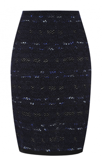 Вязаная юбка-миди с декоративной отделкой St. John