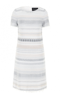 Платье прямого кроя с бахромой St. John