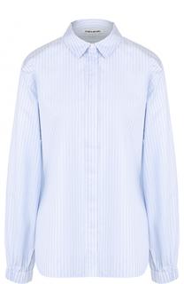 Хлопковая блуза в полоску и с манжетами на резинке Elizabeth and James